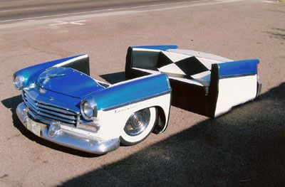 Furniture Made from Car Parts  #Man #Cave #Garage