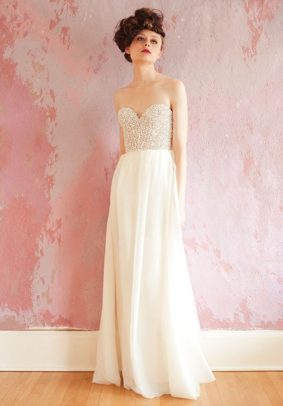 Gorgeous Sarah Seven gown.