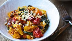 Spaghetti Squash with Tomato, Spinach, Garlic and Pine Nuts: From Elizabeth Stein