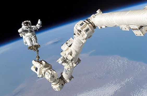 Space shuttle robotic arm.