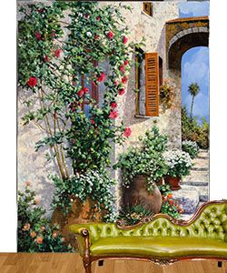fabrics wall murals and fabric walls on pinterest
