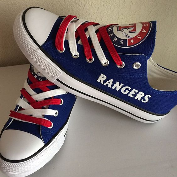 Texas Rangers Converse Style Sneakers - http://cutesportsfan.com/texas-rangers-designed-sneakers/