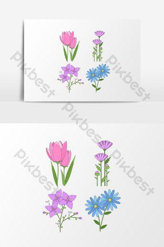 بسيطة عنصر الألوان المائية زخارف نباتية أدبية الربيع Pikbest Graphic Elements Watercolor Texture Easy Watercolor Floral