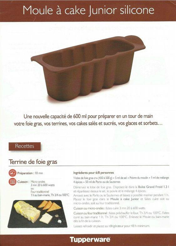Recette Mini Cake Chocolat Tupperware