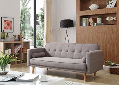 Foxhunter Fabric Sofa Bed Recliner Couch 3 Seater With 2 Modern Cushions Luxury Home Furniture Click Cla Cushions On Sofa Luxury Home Furniture Modern Sofa Bed