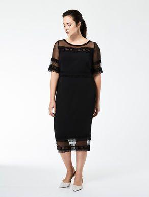 Triacetate tube dress with embellishments