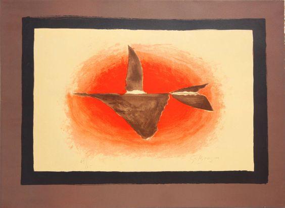Georges Braque Au Couchant (Oiseau XVI), 1958
