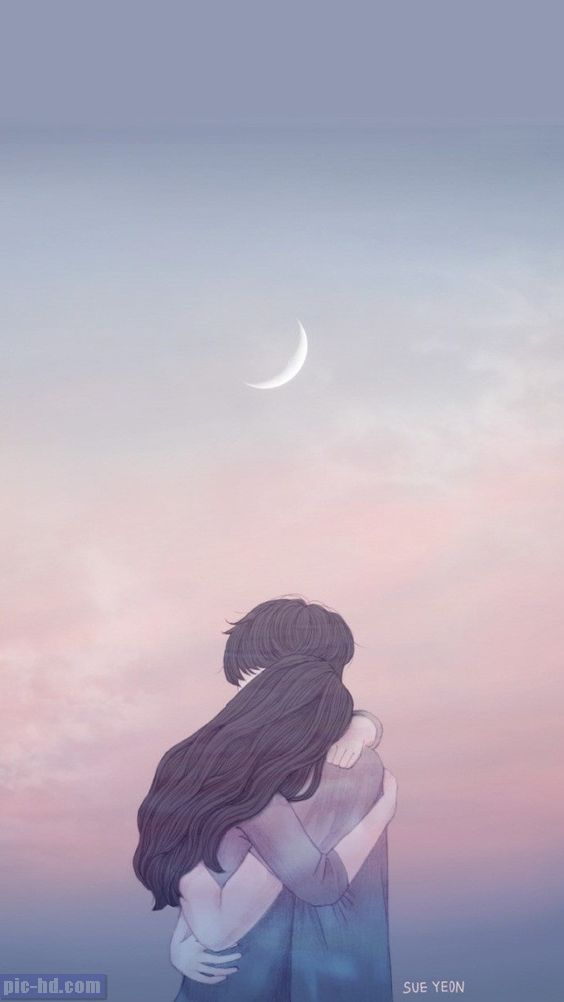 Pin By 7srey On Ideas For The House Couple Wallpaper Anime Love Couple Art