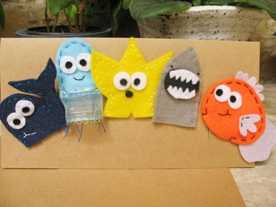 Under The Sea finger puppets five different designs by PennyPopps, €10.00