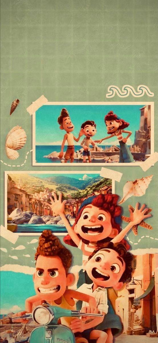 Film Review Luca Strange Harbors In 2021 Disney Wallpaper Cute Disney Wallpaper Cute Cartoon Wallpapers