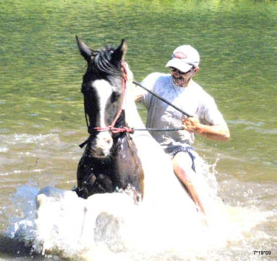 Swimming with horses at Greenhorn Guest Ranch in Plumas County