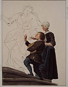 Heilige Geest-Wezen. Naar schilderij van A. Schouman, 1738, afkomstig uit H. Geesthuis ter Grootekerk, (later Krankzinnigen-gesticht aan Lindengracht). Jongens droegen grijze rok, met op linkermouw rood hartje met daarin stadswapen, blauwe broek en kousen; meisjes droegen grijs jak met geplooide witte halsdoek en mutsje en blauwe rok en voorschoot. Vanwege kleur van kleding werden ze Blauwkinderen genoemd. EH Schoemaker 1900 - Regionaal Archief Dordrecht #wezen #ZuidHolland #Dordrecht…