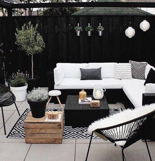 Black White Patio Decor Kortenstein Backyard Decor Patio Decor
