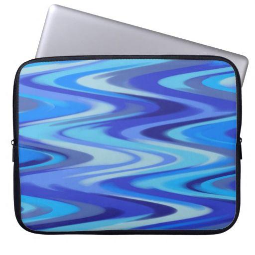 blue waves laptop sleeve