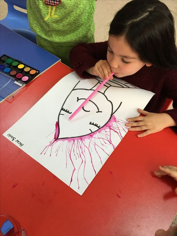 Haus Mit Kinderhandwerk Aquarell Crafts For Kids Art For Kids