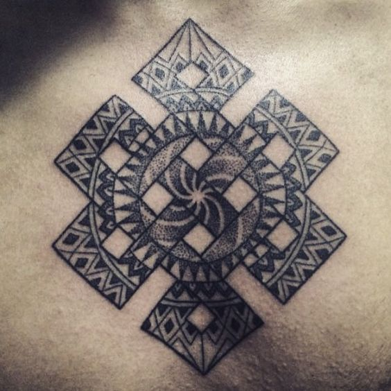 Great patterns in that buddhist endless knot by dasha for Karma symbol tattoo