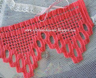 """OFICINA DO BARRADO: Croche - Um """"mimo"""" Barrado para alguém . . .: Crochet Stitch, Crochet Edging"""