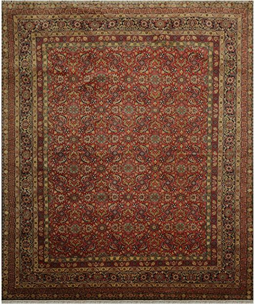 8 X9 9 Hand Knotted 100 Wool Traditional Oriental Area Rug Peach Gold Color Oriental Area Rugs Area Rugs Oriental