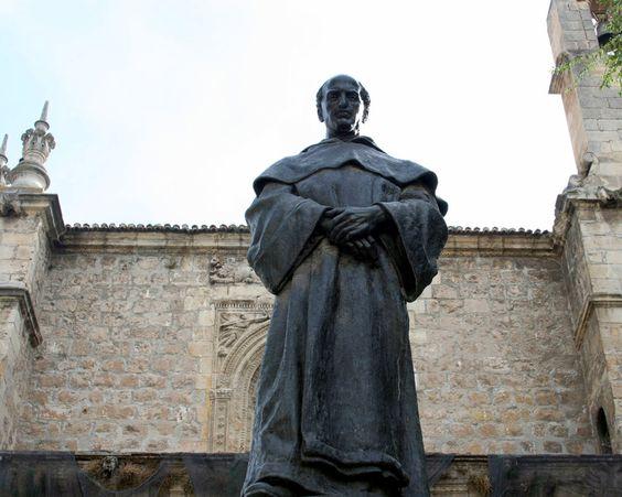 """#Granada - Fray Luis de Granada - 37º 10' 23"""" -3º 35' 40"""" / 37.173056, -3.594444 Escritor dominico que nació en Granada en 1504 y murió en Lisboa, Portugal, en 1588. Fray Luis de Granada, como tantos otros personajes, quiso que el nombre de la ciudad que le viera nacer quedara para siempre ligado a su propio nombre y en dicha ciudad, ya con fama de elocuente predicador, estuvo durante varios años en el convento de Santa Cruz."""