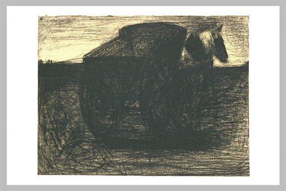 La cesta o el transportador de caballos - Georges Seurat