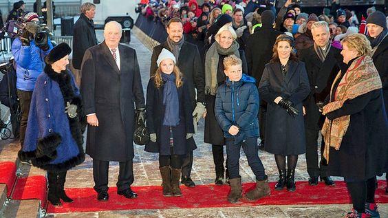 Queen Sonja, King Harald, Princess Ingrid Alexandra, Crown Prince Haakon, Crown…
