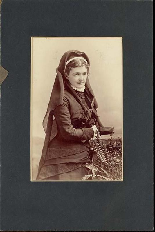 Mrs. Elizabeth Bacon Custer in Mourning Clothes and Veil