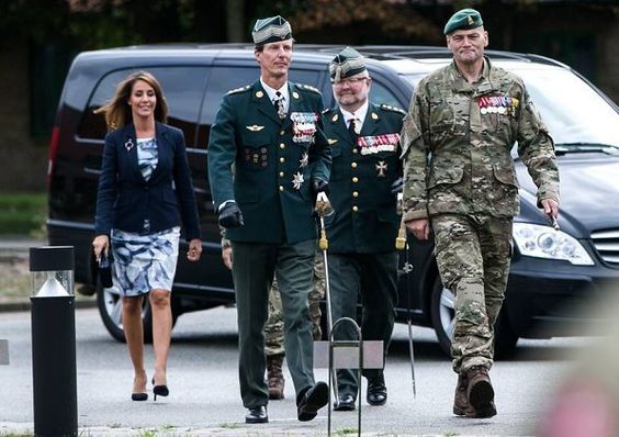 Prince Joachim and Princess Marie visited Hærens Sergentskole