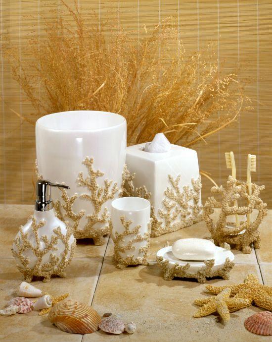 Veratex Coral Reef Bath Accessories Coral Bathroom Decor Teal Bathroom Accessories Bathroom Decor