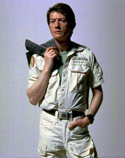 O John Hurt σε φωτογράφηση για την ταινία Alien