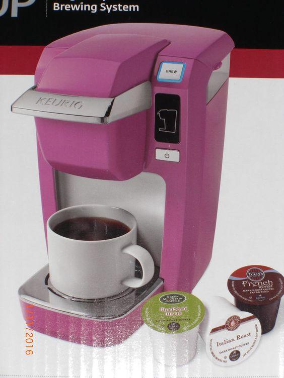NEW Keurig K10 MINI Plus Personal Coffee Maker Machine PINK /ORCHID + K cups #Keurig gift ...