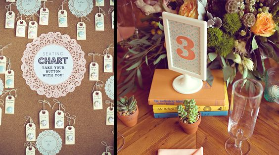 Seating chart by Hello, Gem!    Photo by Jill Thomas