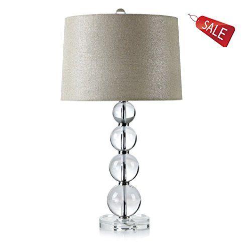 Lampe De Table Chambre Lampe De Chevet Salon Cristal Moderne Verre