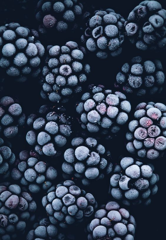 Inspiration can be found in everyday things - the wonderful indigo colour in these frozen blackberries already has us planning a whole scheme!: