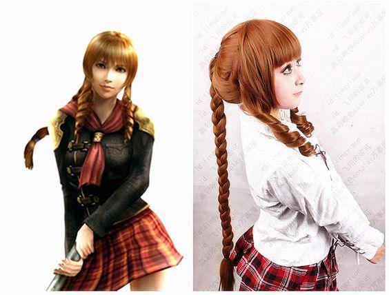 Recién llegado de la fantasía Final Fantasy Cinque Anime peluca resistencia al calor de fibra sintética pelucas + free + caps