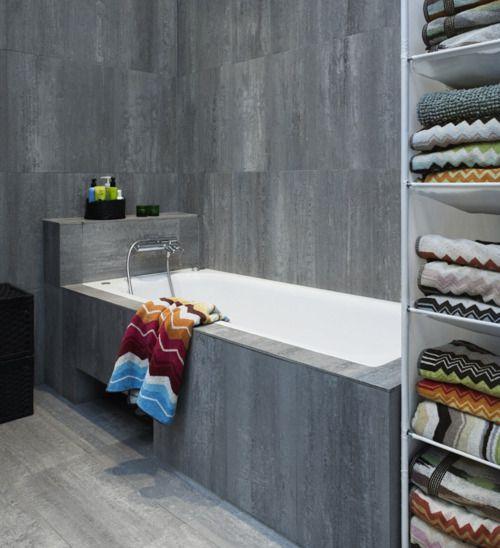 concrete bath tile