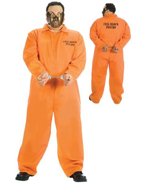 Mens Hannibal Lecter Fancy Dress Costume Halloween Prisoner Psycho Costume