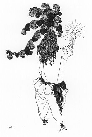 The New Star. Illustration for 'The Rape of the Lock'. Aubrey Beardsley.