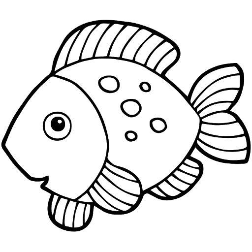 Gambar Mewarnai Ikan Kakap Fish Drawing For Kids Coloring Pictures For Kids Pattern Coloring Pages