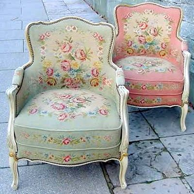 Shabby Chic chairs - I want them!!: