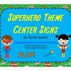 These cute and colorful center signs will add a fun touch to any display in your Superhero theme classroom!   Each full sheet has a Superhero with ...