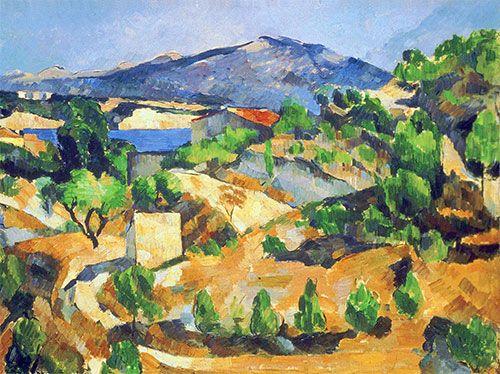Cezanne Mountains In Provence L Estaque Giclee Canvas Print 615 Topartprint Paul Cezanne Paintings Paul Cezanne Cezanne Art