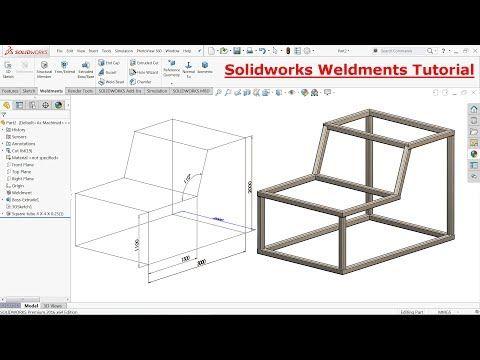 Solidworks Weldments Tutorial Steel Structure Youtube Solidworks Solidworks Tutorial Steel Structure