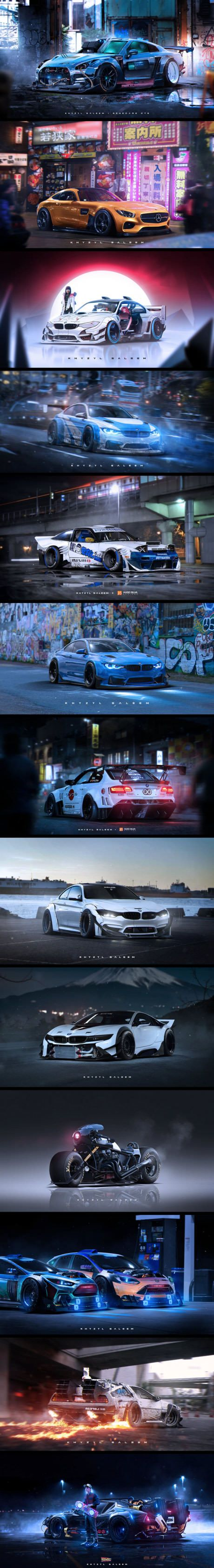 This Japanese artist is the publisher of EA Games: Need For Speed, these are some of his works