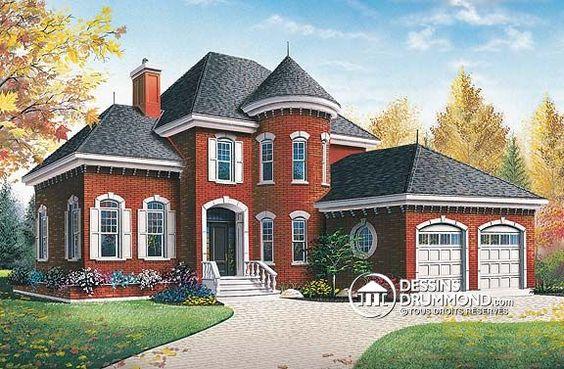 Plan de maison unifamiliale w3433 de dessins drummond for Interieur original maison
