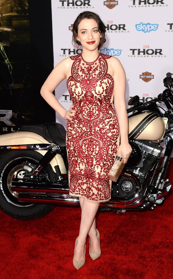 Kat Dennings shines at the Hollywood premiere of Thor: The Dark World. #fashion