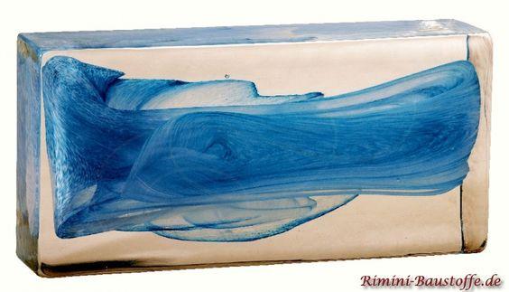 #Glasbaustein Pietre di Vetro, in der Farbe Soul Celestre e Bianco, in vielen verschiedenen Maßen erhältlich.