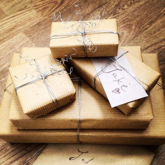 Brown paper packages, tied up with... Wire!