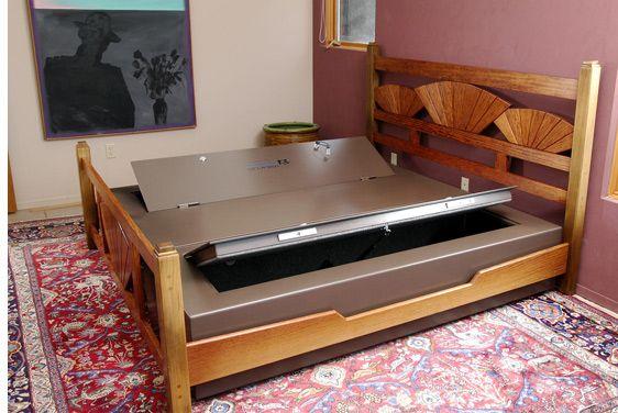Concealed bed safe: