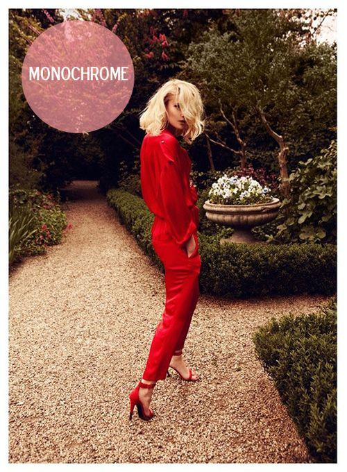 Chica Activa podría ir toda de rojo <3 #monocromática