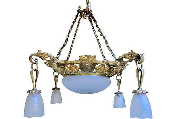 Gilded Bronze Neoclassical Chandelier on OneKingsLane.com
